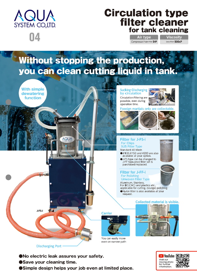 circulation type filter cleaner flyer